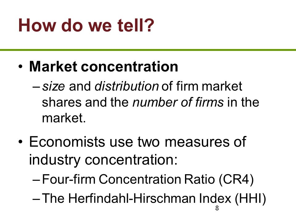 How do we tell Market concentration