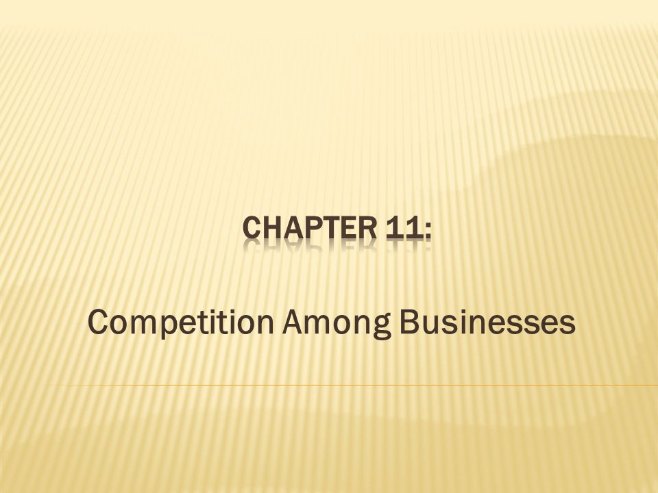 Competition Among Businesses