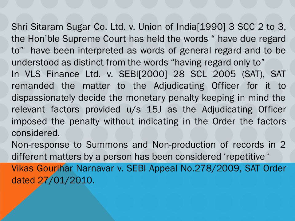 Shri Sitaram Sugar Co. Ltd. v