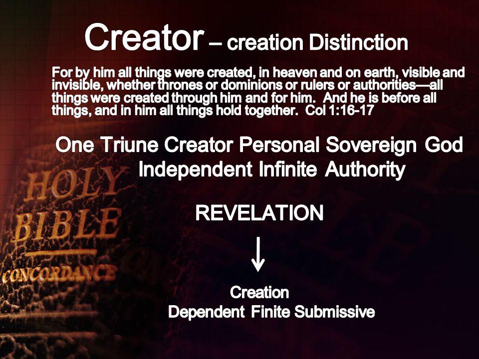 Creator – creation Distinction