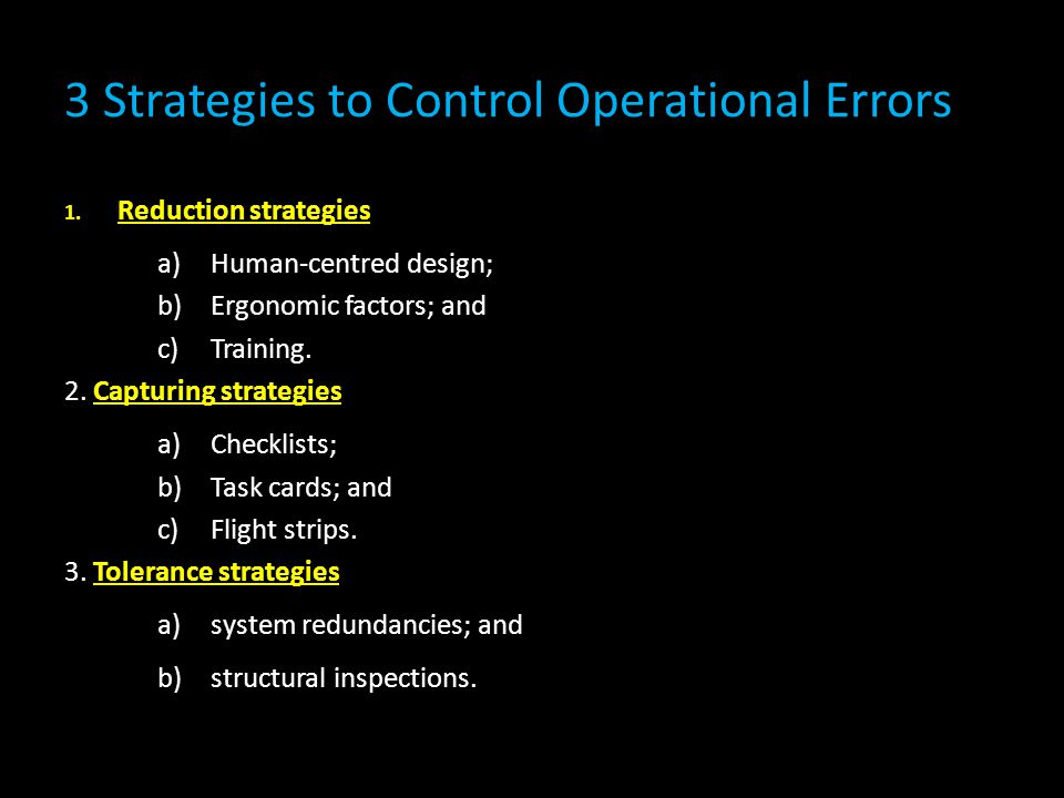 3 Strategies to Control Operational Errors
