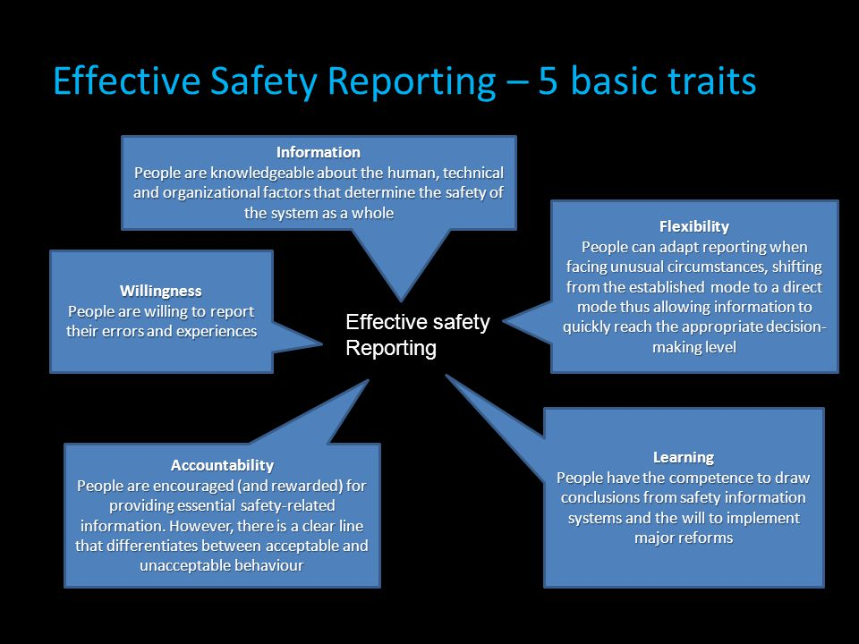 Effective Safety Reporting – 5 basic traits