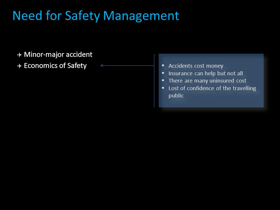 Need for Safety Management