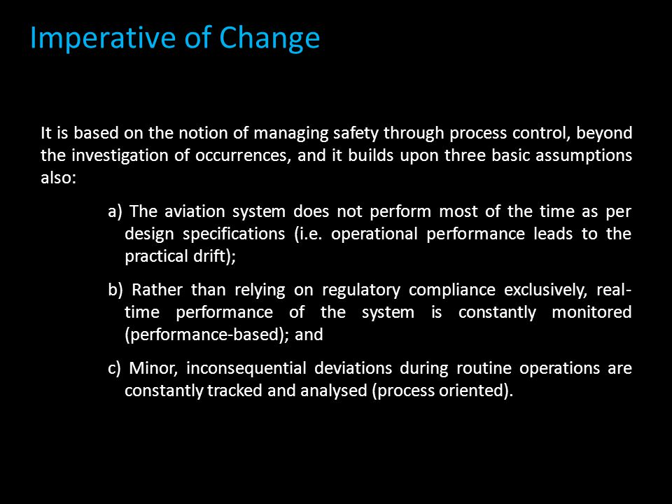 Imperative of Change