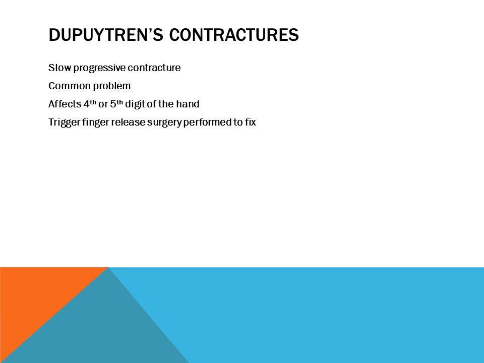 Dupuytren's contractures