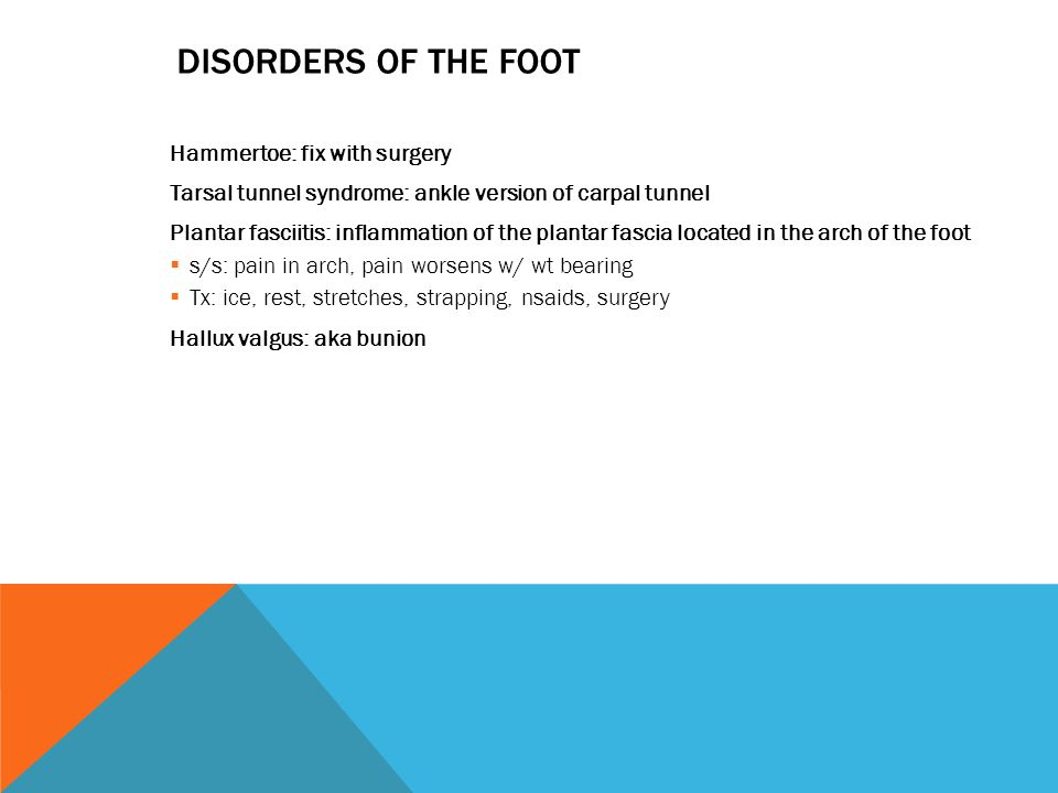 Disorders of the foot Hammertoe: fix with surgery