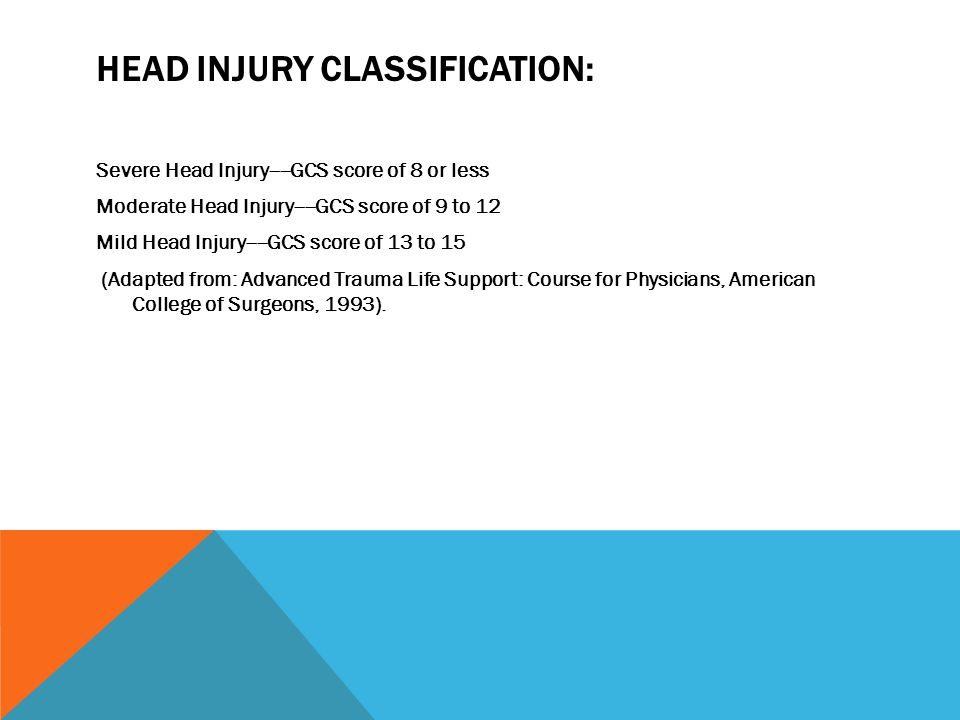 Head Injury Classification: