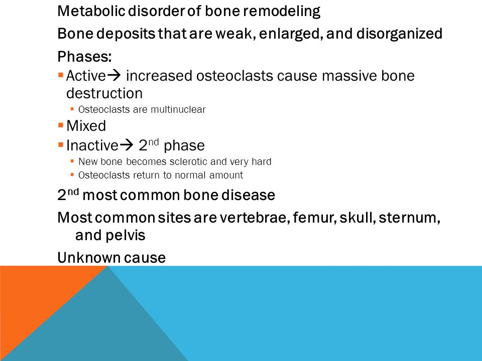 Metabolic disorder of bone remodeling