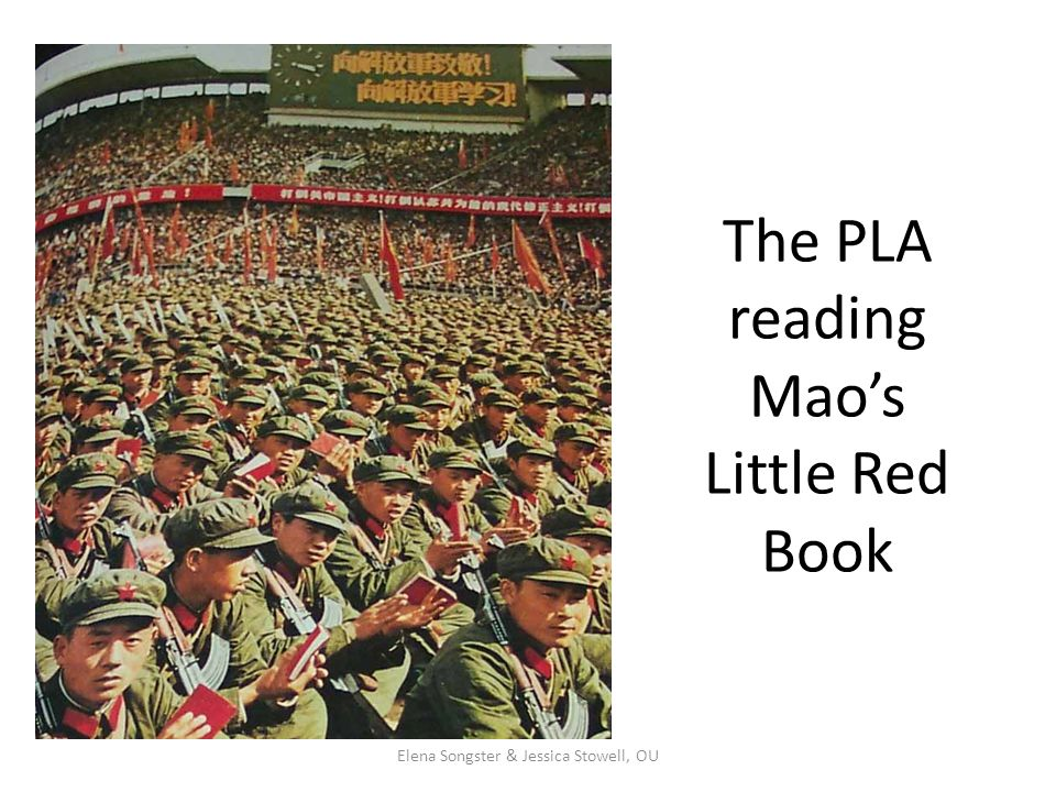 The PLA reading Mao's Little Red Book