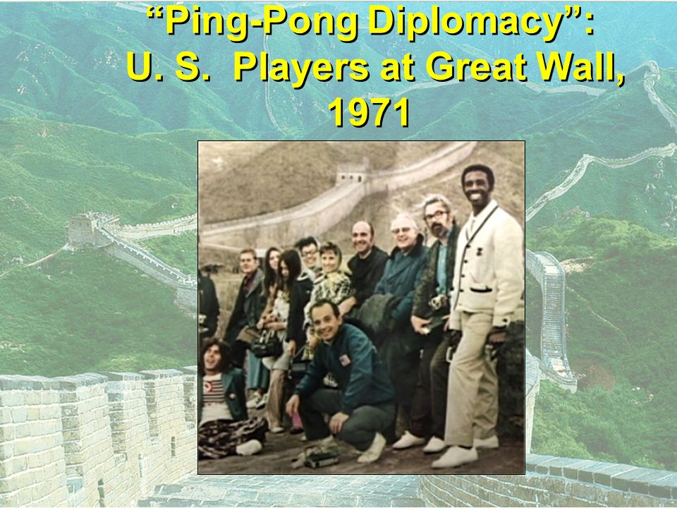 Ping-Pong Diplomacy : U. S. Players at Great Wall, 1971
