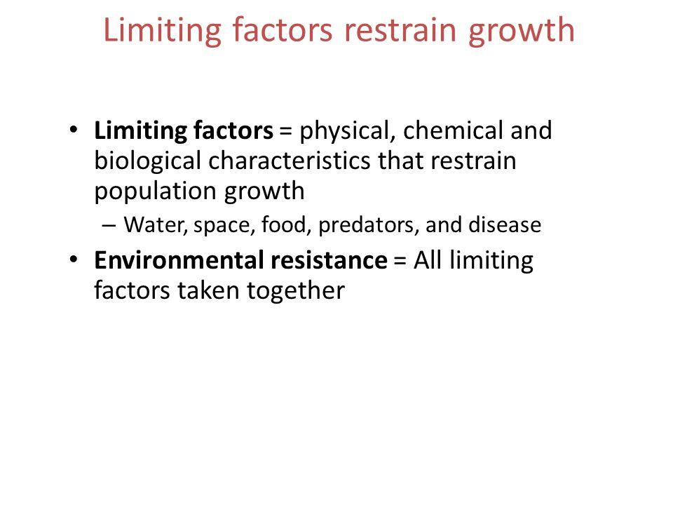 Limiting factors restrain growth