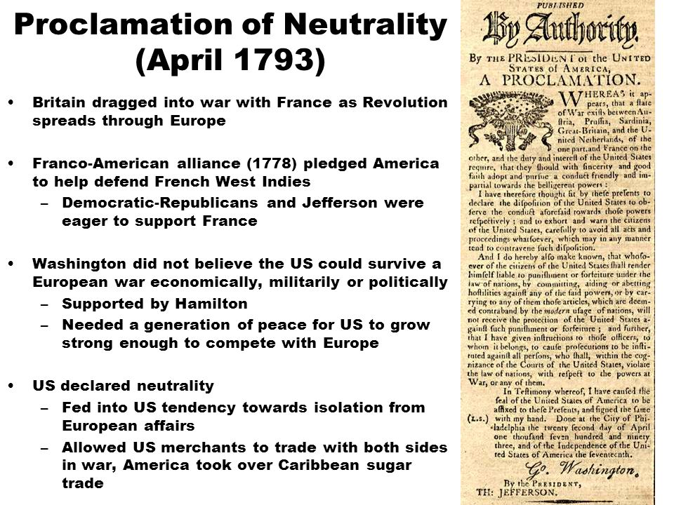 Proclamation of Neutrality (April 1793)