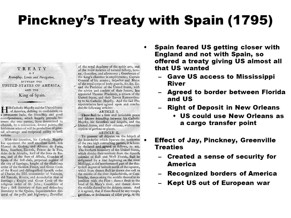 Pinckney's Treaty with Spain (1795)