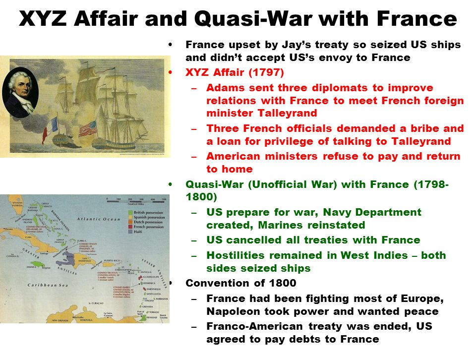 XYZ Affair and Quasi-War with France
