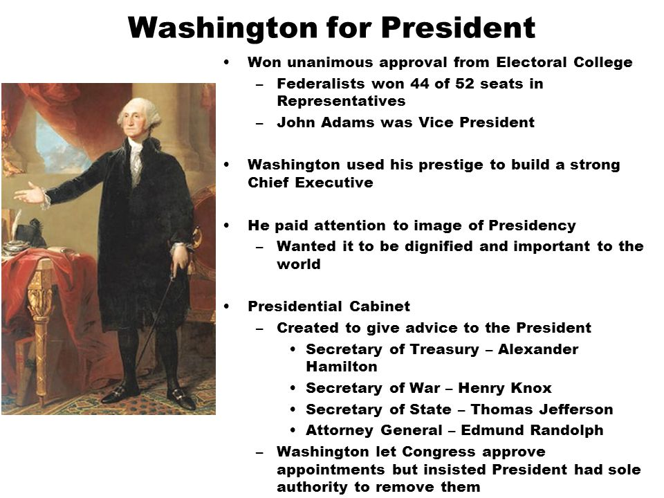 Washington for President