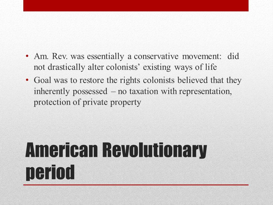 American Revolutionary period