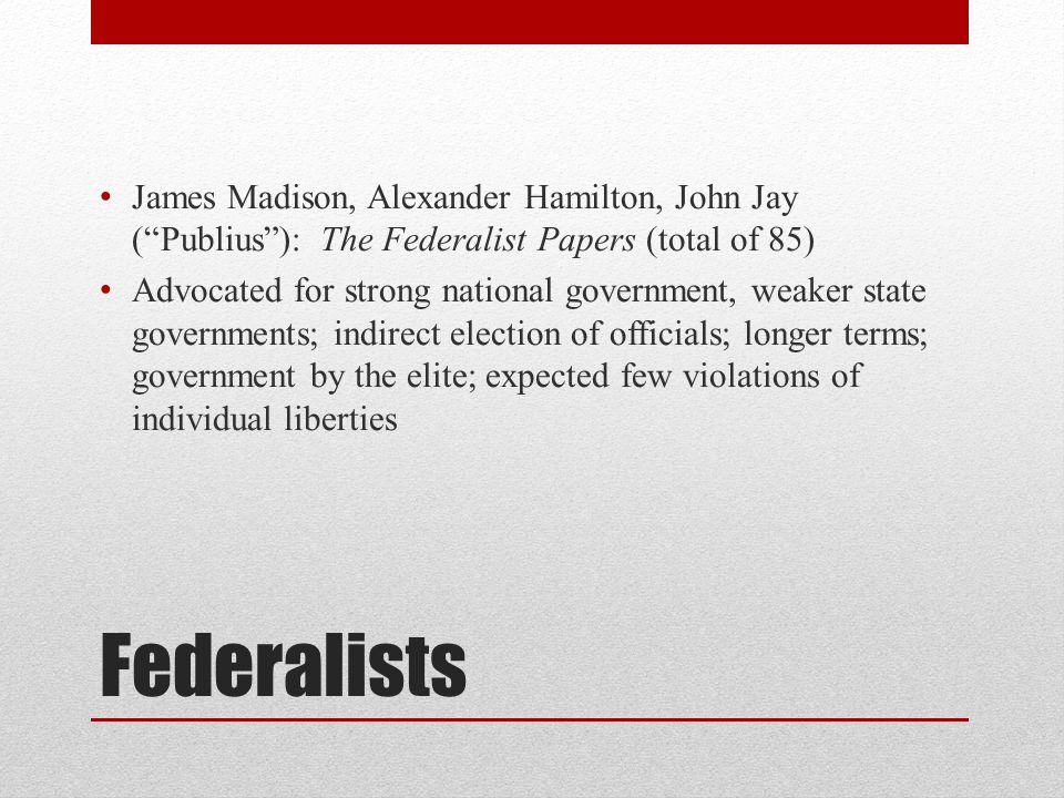 James Madison, Alexander Hamilton, John Jay ( Publius ): The Federalist Papers (total of 85)