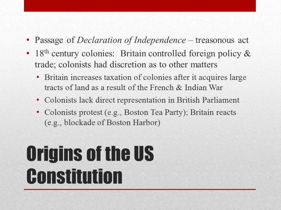 Origins of the US Constitution