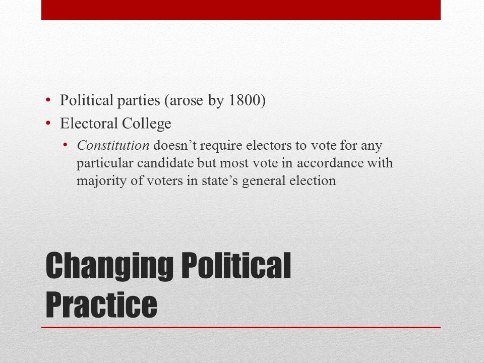 Changing Political Practice