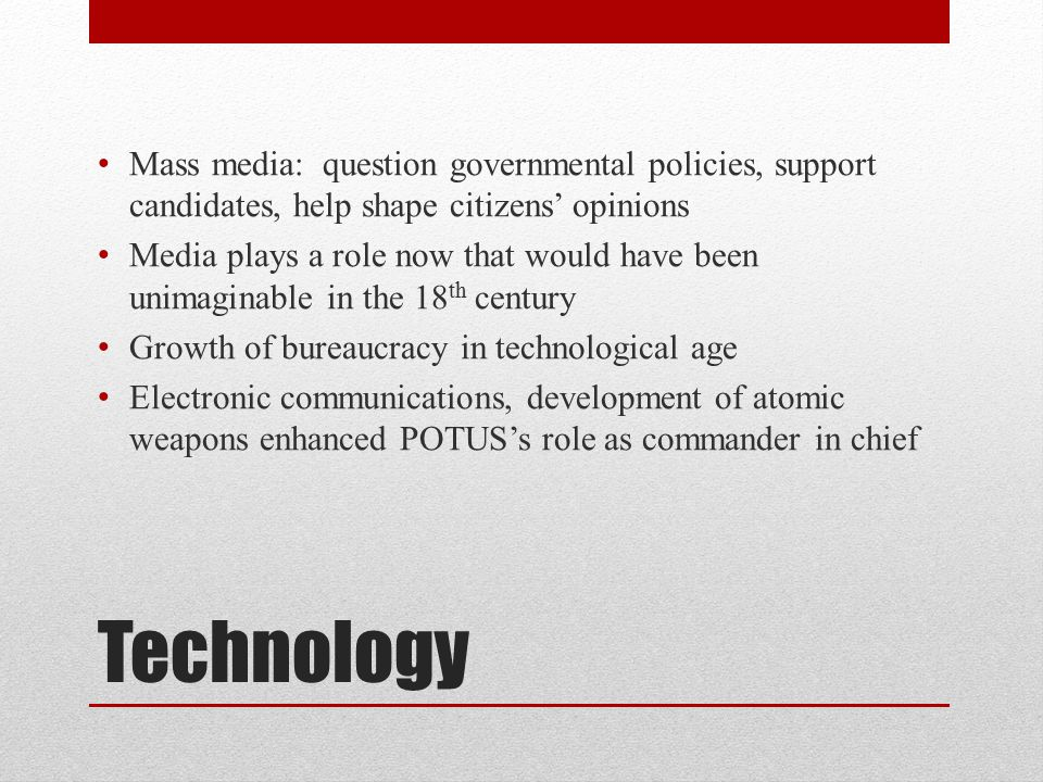 Mass media: question governmental policies, support candidates, help shape citizens' opinions