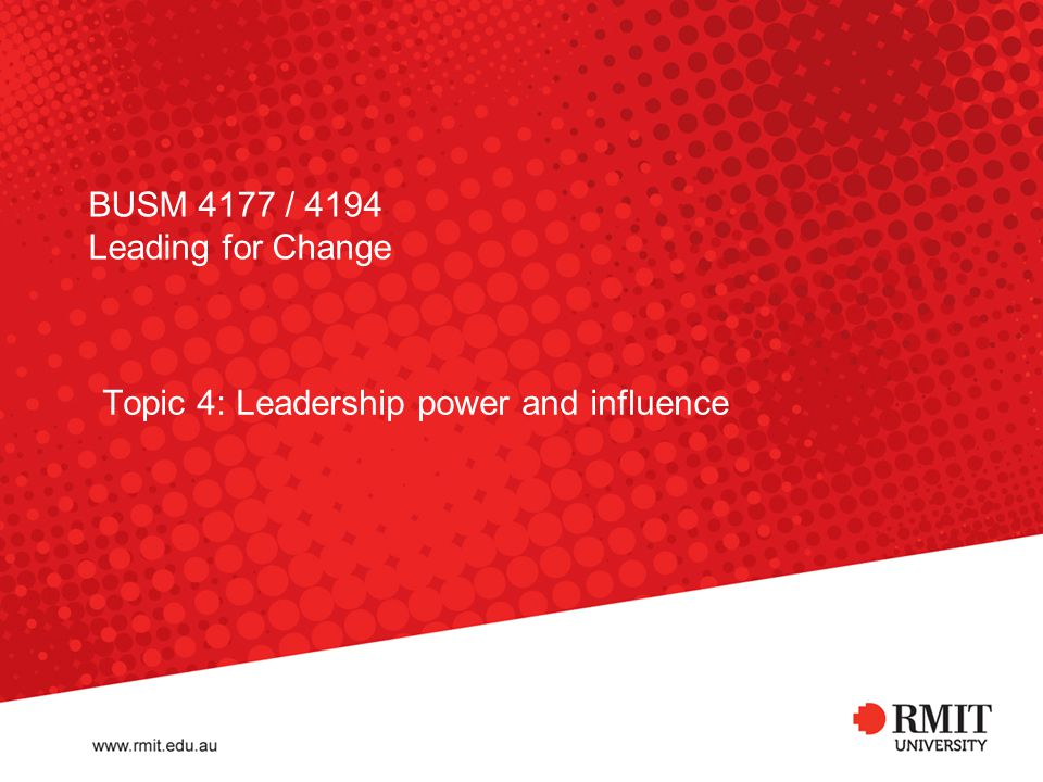BUSM 4177 / 4194 Leading for Change
