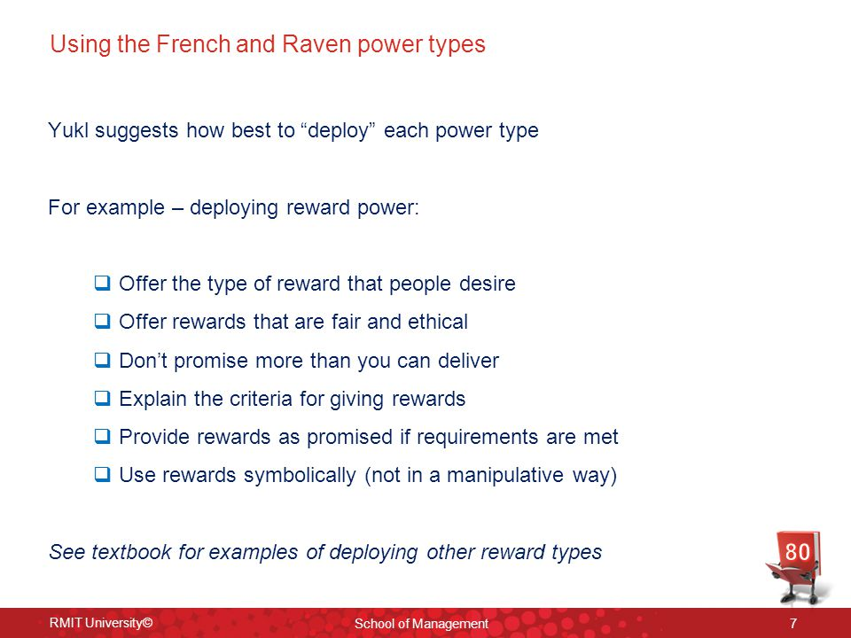 Using the French and Raven power types