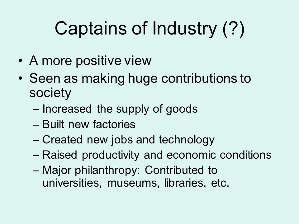 Captains of Industry ( )