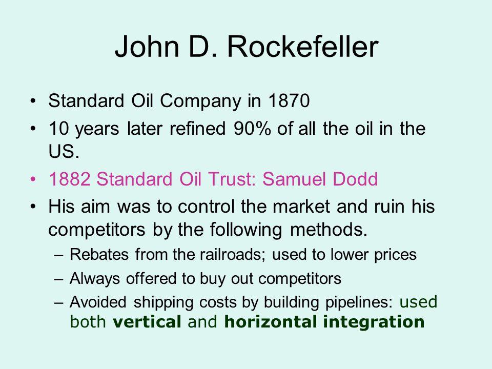 John D. Rockefeller Standard Oil Company in 1870