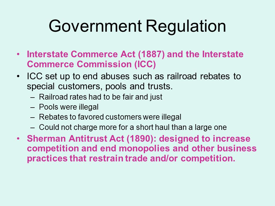 Government Regulation