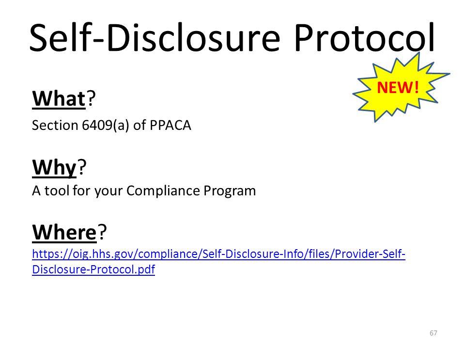 Self-Disclosure Protocol