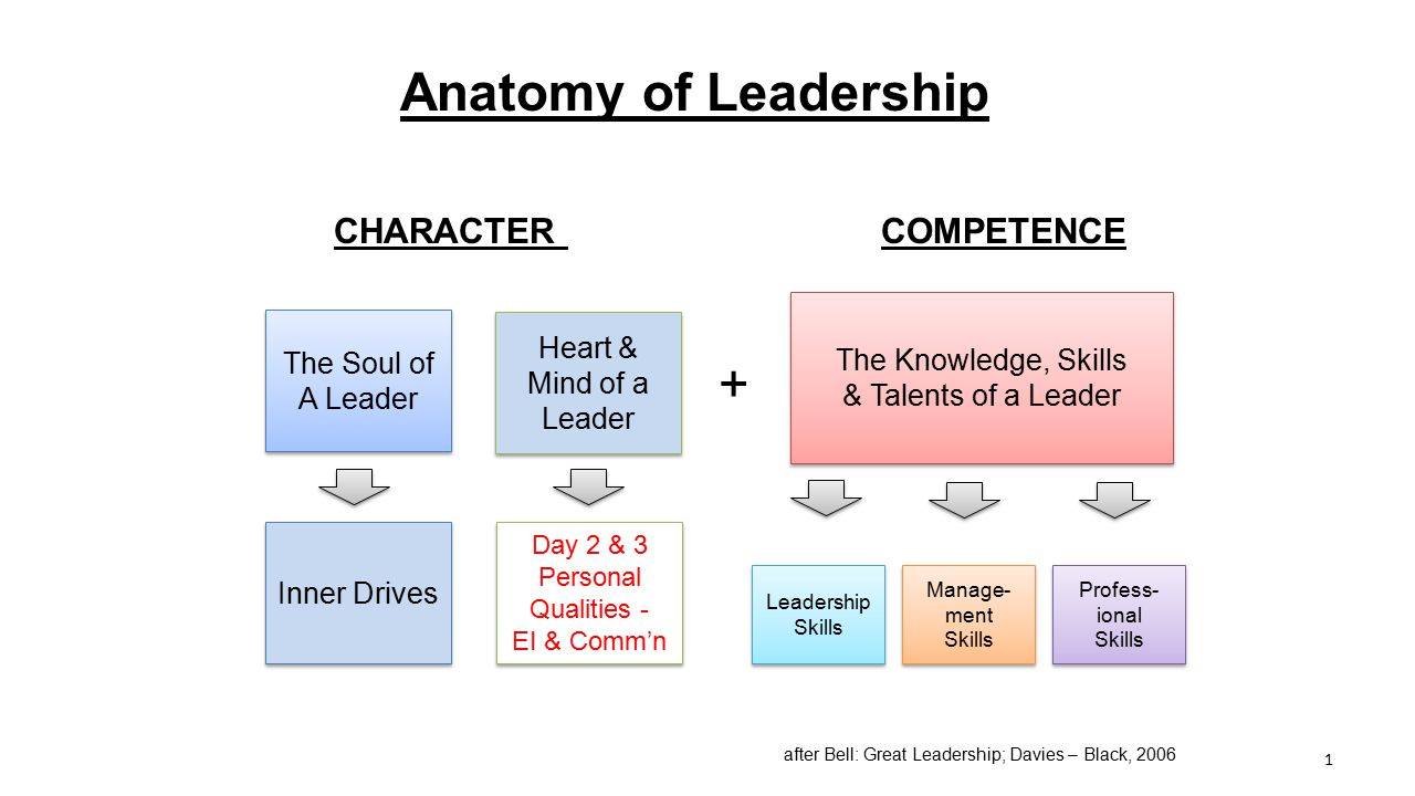Anatomy of Leadership + CHARACTER COMPETENCE The Knowledge, Skills