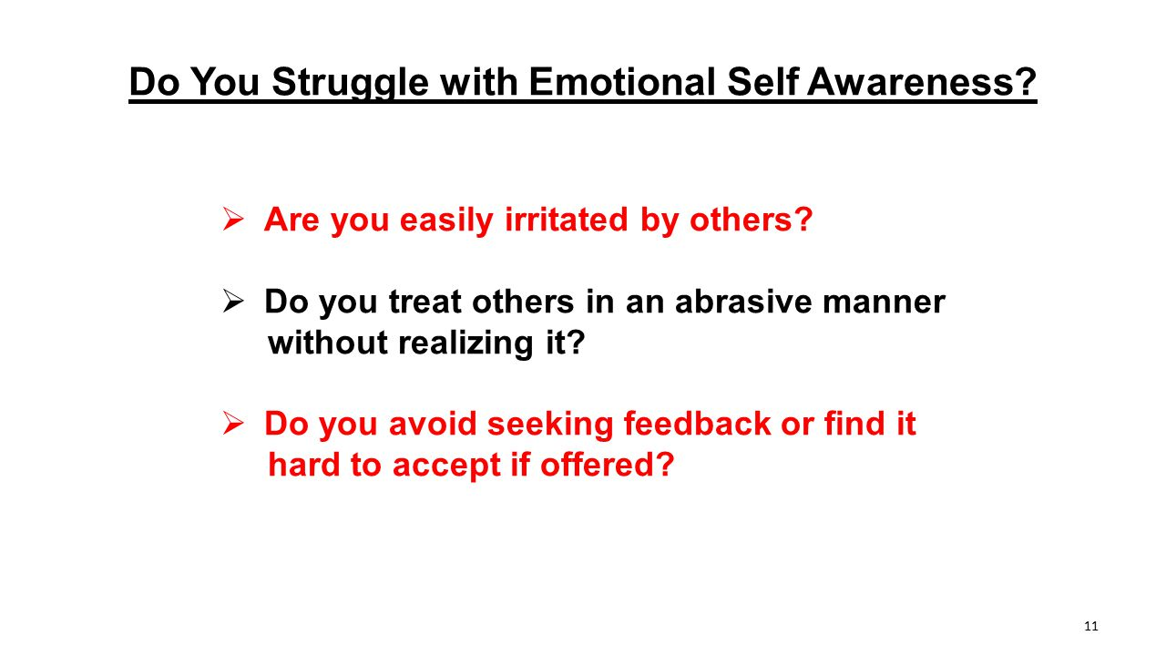 Do You Struggle with Emotional Self Awareness