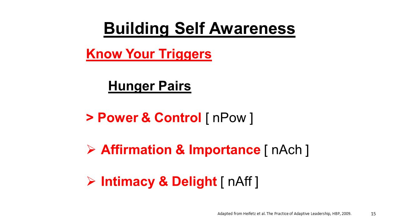 Building Self Awareness