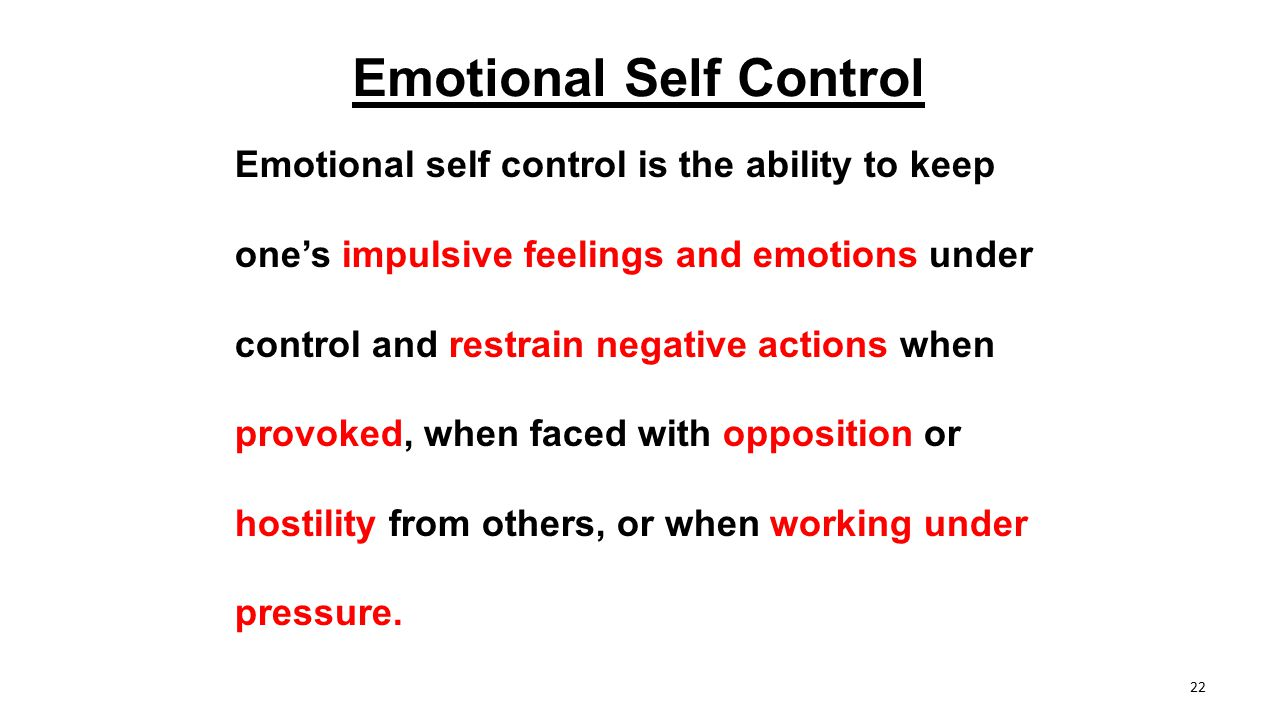 Emotional Self Control