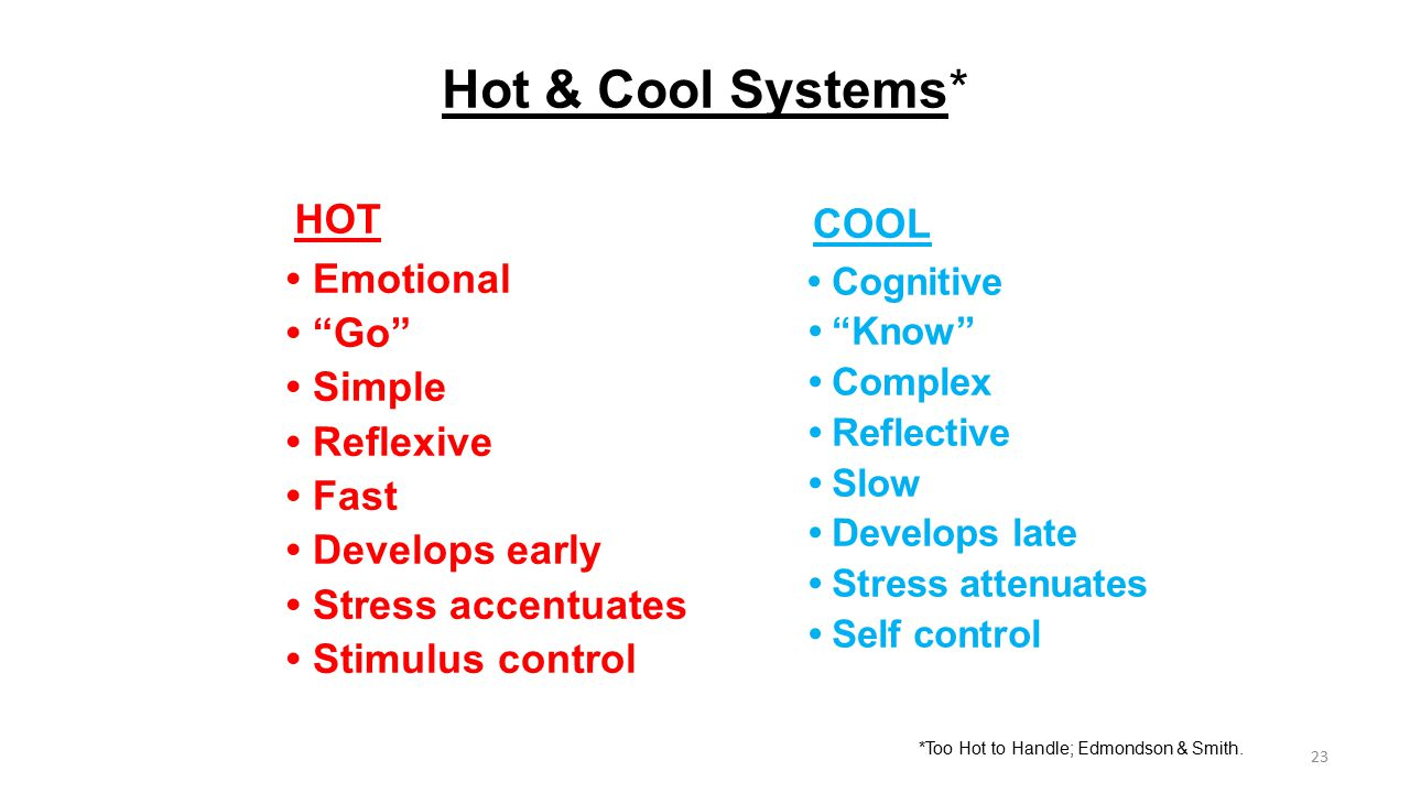 Hot & Cool Systems* HOT COOL