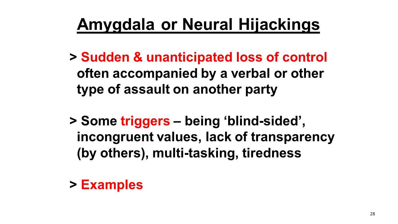 Amygdala or Neural Hijackings