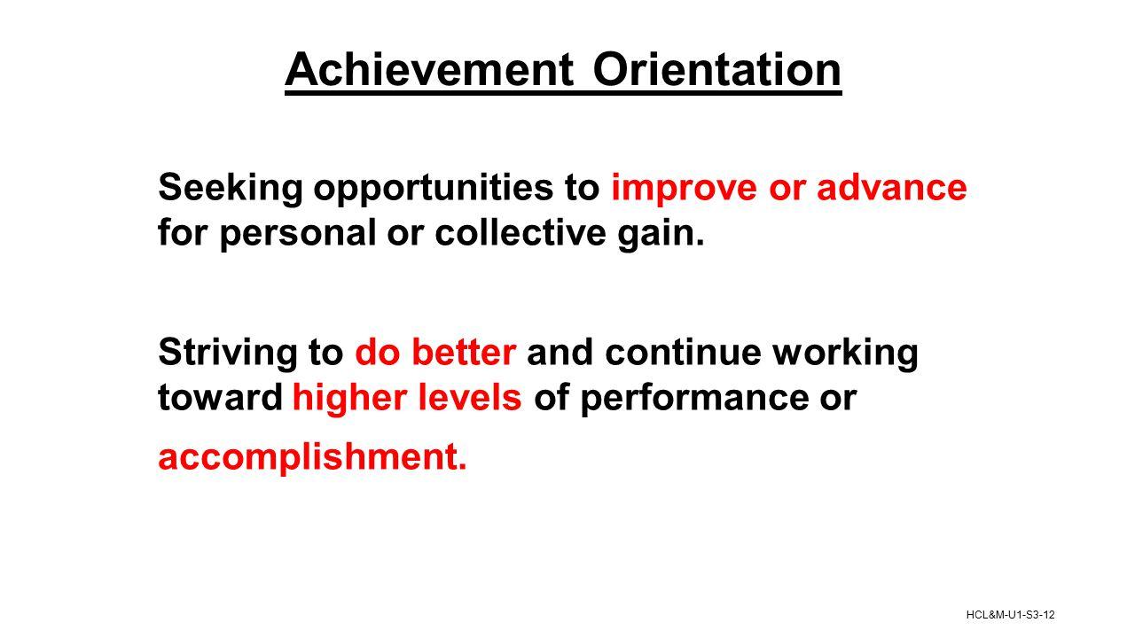 Achievement Orientation