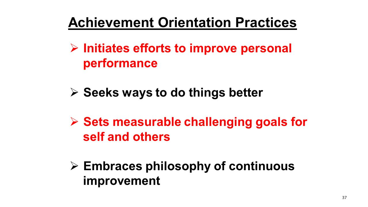 Achievement Orientation Practices