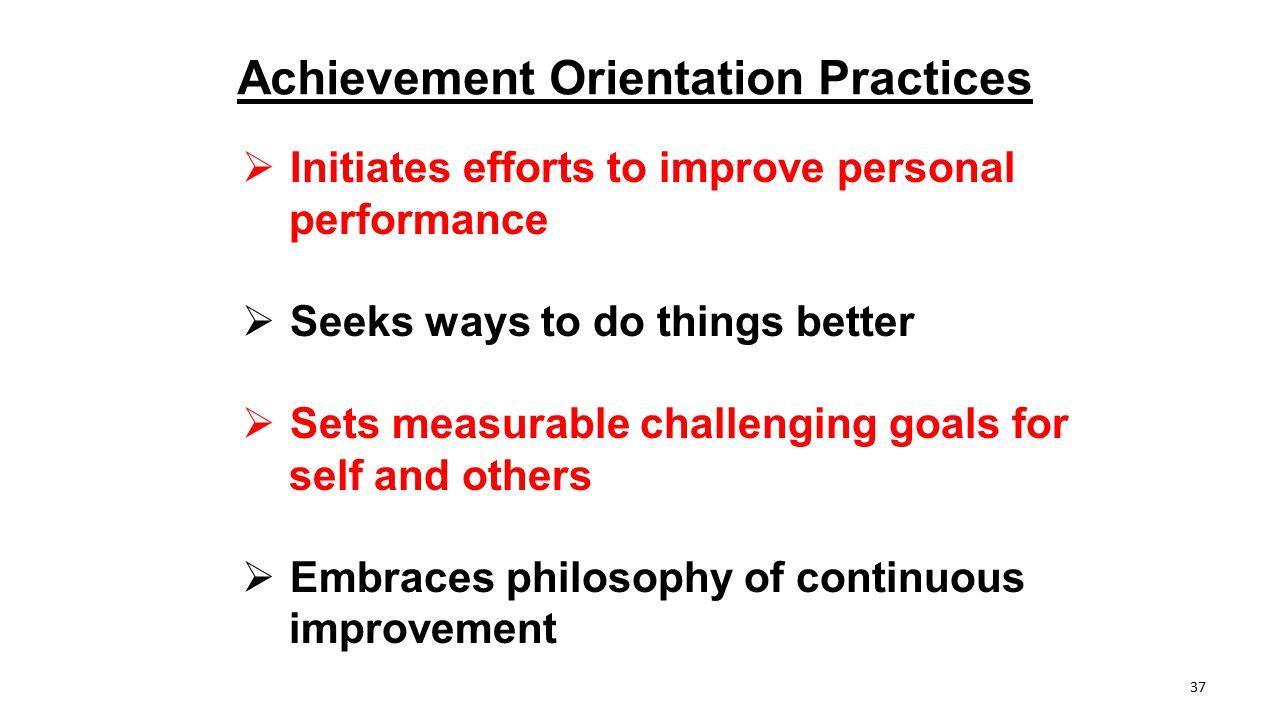 Achievement Orientation Practices