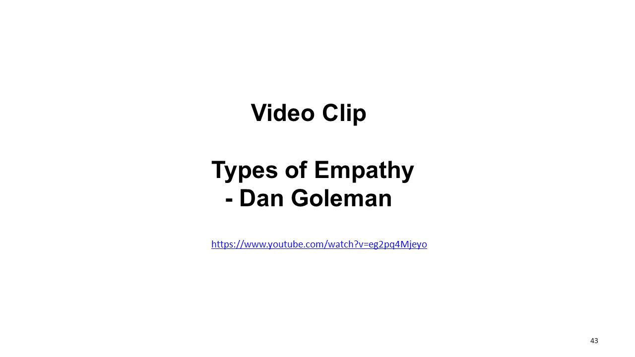 Video Clip Types of Empathy - Dan Goleman