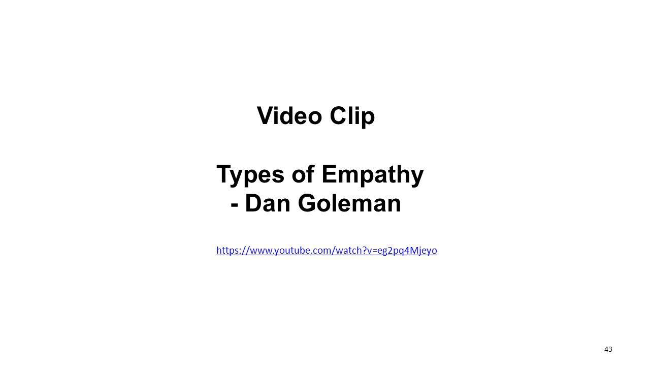 Video Clip Types of Empathy - Dan Goleman