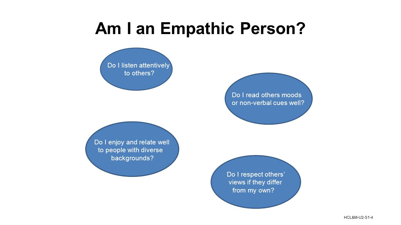 Am I an Empathic Person Do I listen attentively to others