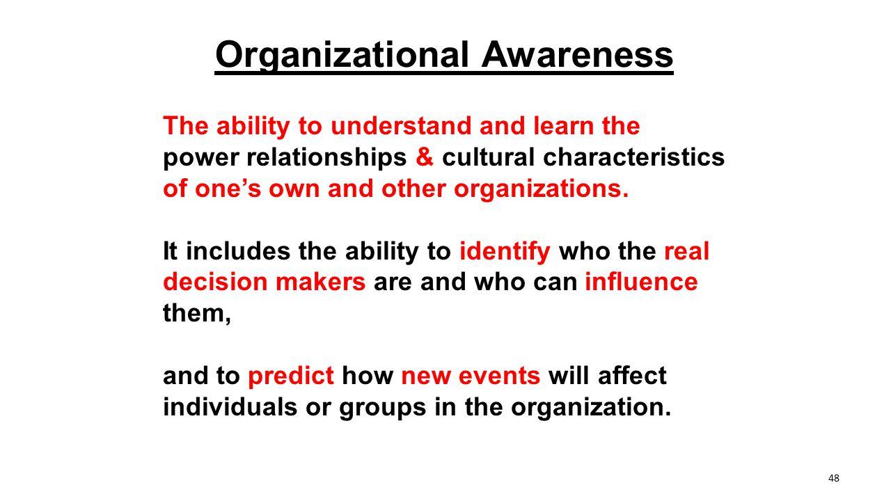 Organizational Awareness
