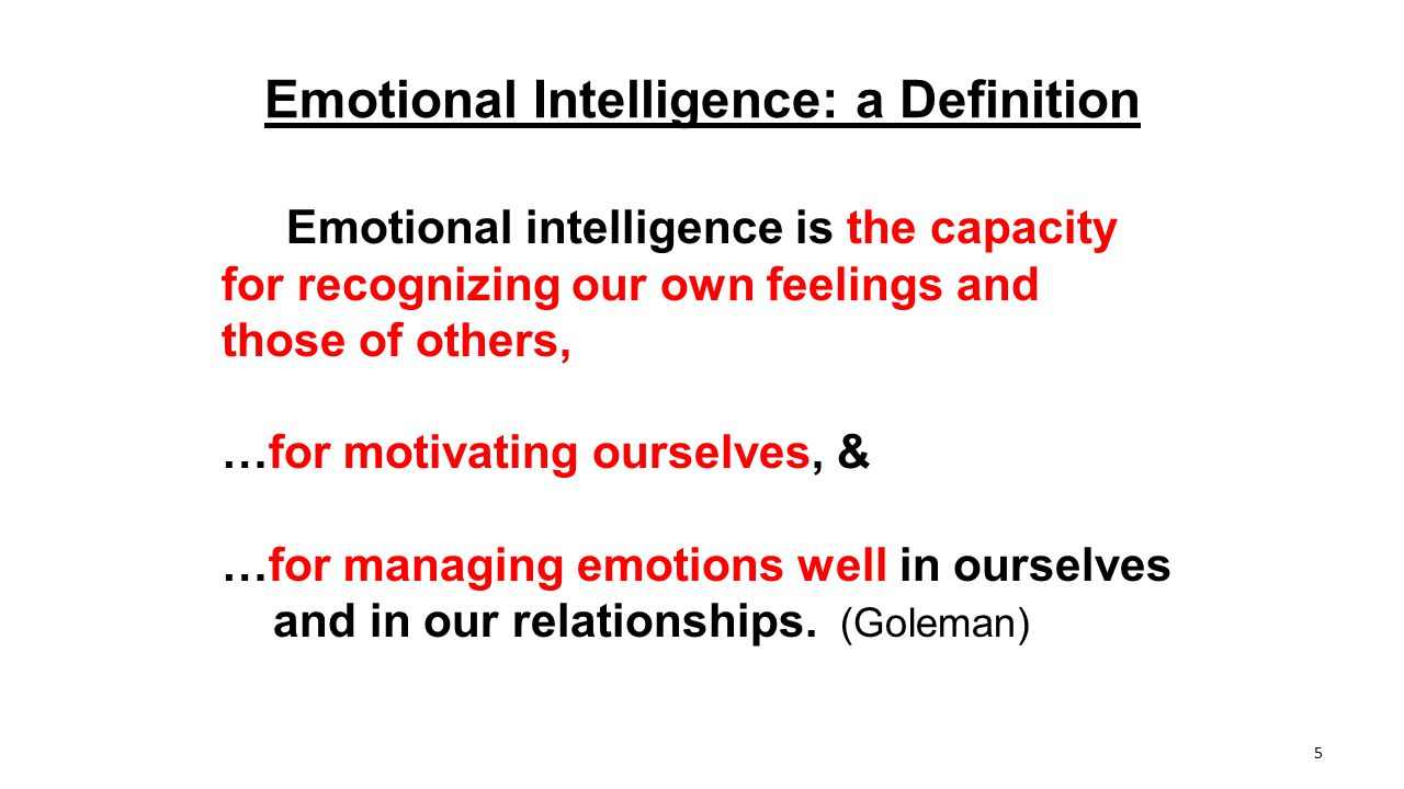 Emotional Intelligence: a Definition