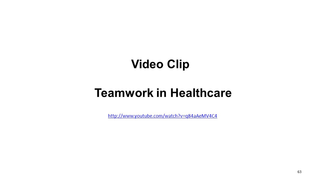 Teamwork in Healthcare