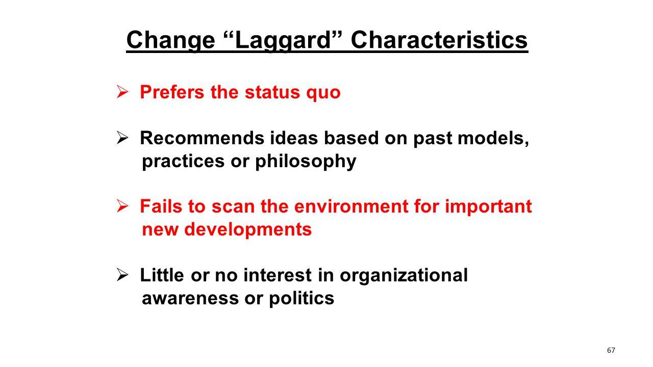 Change Laggard Characteristics