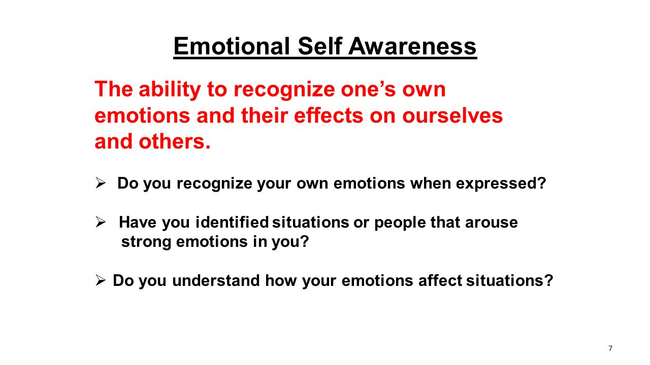 Emotional Self Awareness