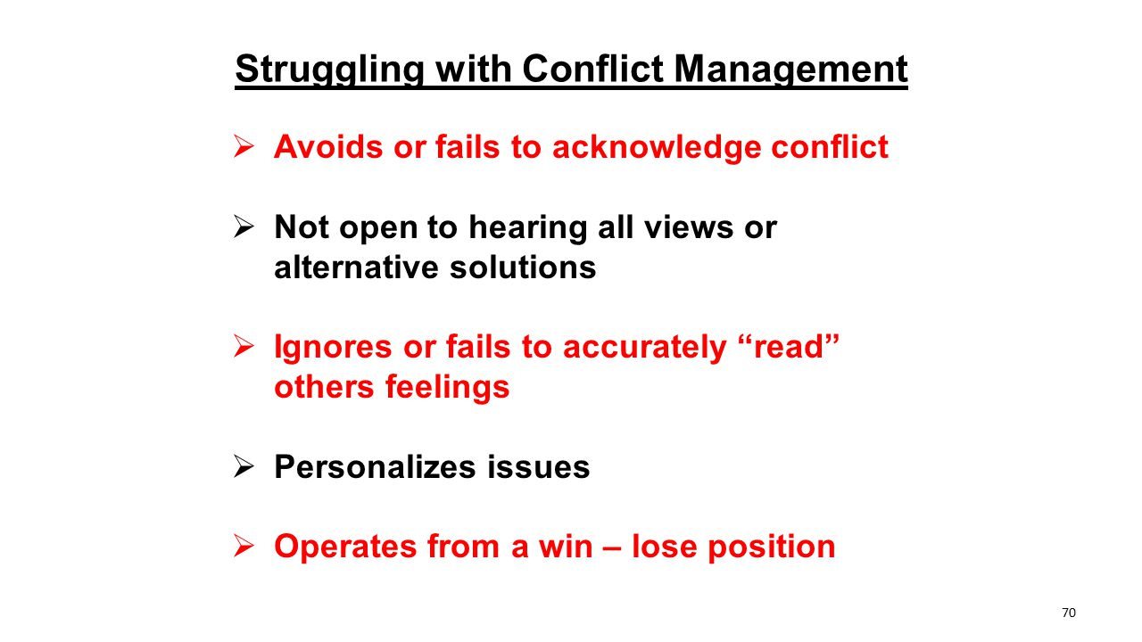 Struggling with Conflict Management