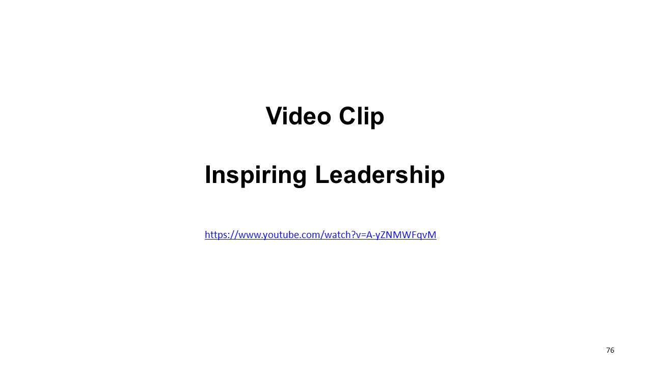 Video Clip Inspiring Leadership