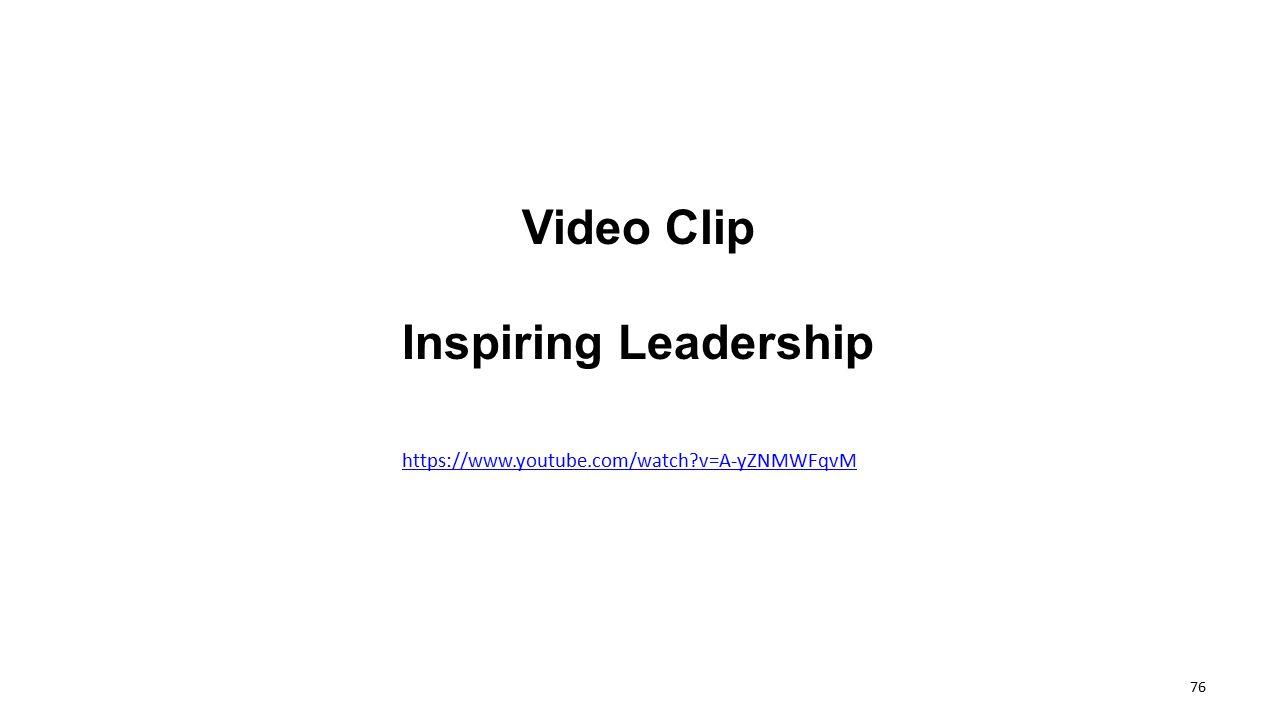 Video Clip Inspiring Leadership